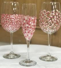 wine glass painting group work