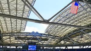 australian open roof arthur ashe stadium roof closing for the first time at us open