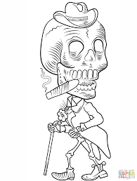 Elegant Day Of The Dead Skull Coloring Pages Layout Design And Page