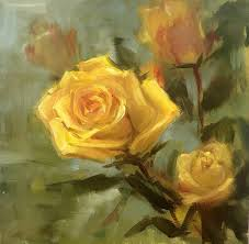 saatchi art artist yana golikova painting yellow roses small oil paitning by