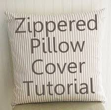 How To Make A Pillow Cover With Zipper
