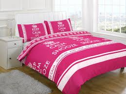 Snooze Bedroom Furniture Keep Calm And Snooze Fuchsia Duvet Cover Set