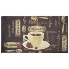chef gear cafe au lait 18 in x 30 in foam comfort kitchen mat