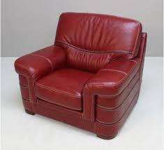 leather sofa chair. Bardi Danube Red Leather Sofa Chair