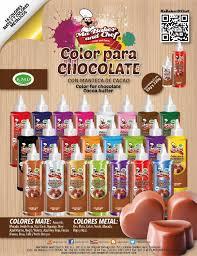Catalogo Color Para Chocolate En Manteca De Cacao Esp By Ma Baker