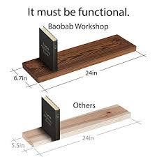 baobab work wood floating shelves