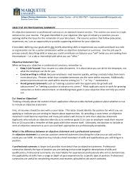 What Is The Objective Section On A Resume First Job Resume Objective Examples Of Resumes Section For Police 65