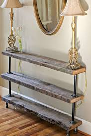 narrow entry table. DIY Reclaimed Wood Console Table (The Reedy Review) Narrow Entry O