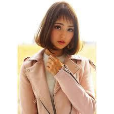 大人可愛いシンプルボブワンレンボブ神戸髪型イメチェン Bonny