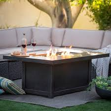 appealing propane fire pits for your outdoor decor napoleon rectangle propane fire pit table