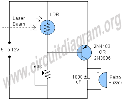 laser security alarm circuit diagram motorcycle schematic laser security alarm circuit diagram