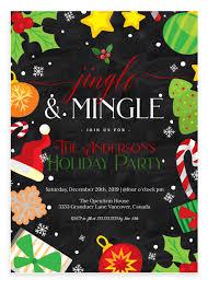 Jingle And Mingle Christmas Party Invitation 2