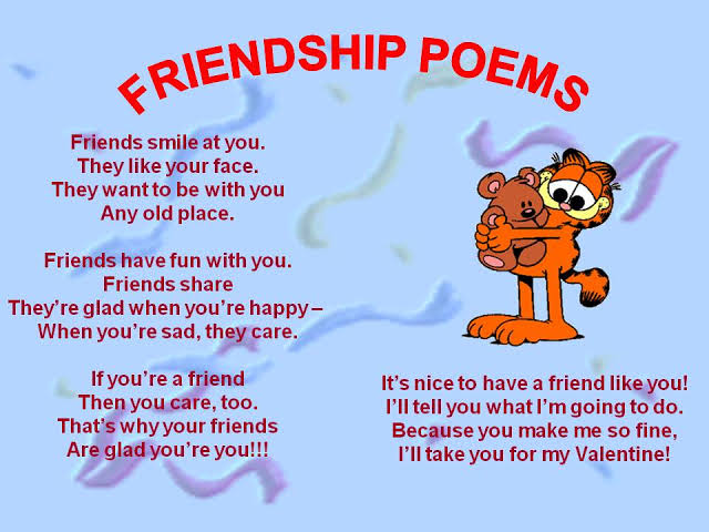 funny friendship poems that rhyme