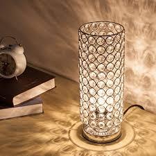 Beautiful ZEEFO Crystal Table Lamp, Nightstand Decorative Room Desk Lamp, Night Light  Lamp, Table