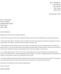 Probation Officer Cover Letter Example Icover Org Uk