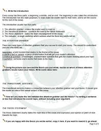 writing thesis statements handout basic steps to write an  dissertation writing and editing