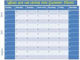 Summer Camp Calendar Template 2011 Kids Summer Planning