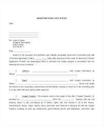 Letter Of Intent Real Estate Stunning Real Estate Offer Letter Template Rural Home Property Purchase