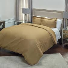 khaki solid pattern king linen duvet bedding
