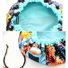 2018 magic mermaid sequins travel pouch lazy drawstring makeup bag women organizer storage artist lady s for cosmetic toiletries in cosmetic bags cases