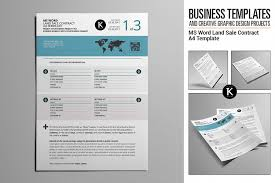 Brochure Templates In Word Unique MS Word Land Sale Contract A48 Template