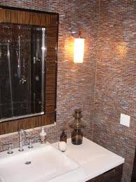 Glass Tile Bathrooms 30 Interesting Ideas Glass Tile Accent Wall Bathroom