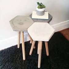 Create a large 48x48 block style concrete coffee table, but not weighing 1000lbs of solid concrete, and also not be expensive. Ins And Outs Of Owning A Concrete Dining Table Dining On Concrete