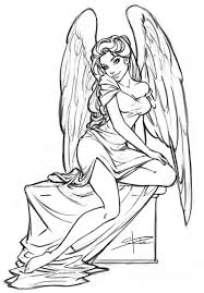 Girl Angel Coloring Pages At Getdrawingscom Free For Personal Use