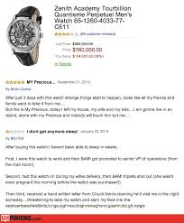 uhpinions funny reviews from amazon yelp etc real zenith academy tourbillion men s watch