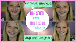 middle makeup first day of 6th grade