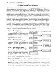 54 Qualified Qualitative Analysis Of Group 3 Cations