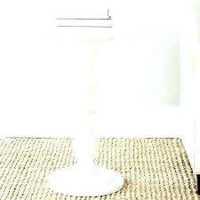 small white round table accent pedestal side target pill m2 on one small white