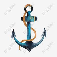 акварель судовой якорь судовой якорь корабль акварель Png