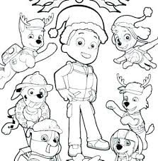 Paw Patrol Coloring Sheets Chase Pages Free Printable Skye And