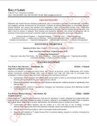 english resume example