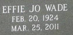 Effie Jo Jensen Wade (1924-2011) - Find A Grave Memorial