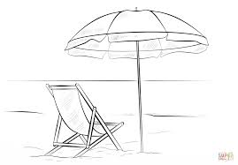 Small Picture Beach chair and umbrella coloring page Free Printable Coloring Pages