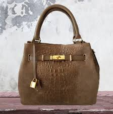 kelly inspired suede leather tote
