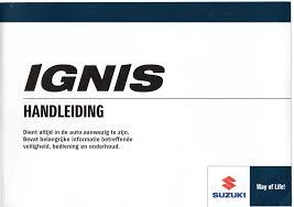 Handleiding Suzuki Ignis 2017 Nl