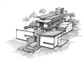 modern architecture sketch. Sketch With Concept Modern Architecture House Photography C