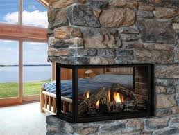 back to warmth double sided electric fireplace