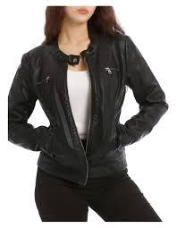 bandit vegan leather biker jacket image 1