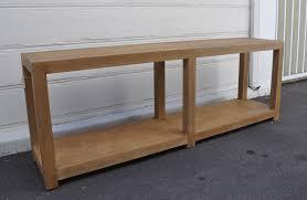 long napa oak console table  mecox gardens