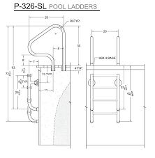 in ground pool ladders p ladder measurements above steps w gate lock