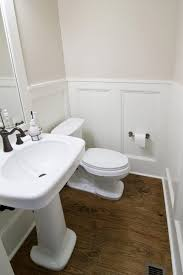 Hardwood Floor Bathroom Bathroom Pretty Wood Floor With Original Chic Wainscoting In