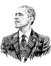 Small Picture Barack Obama the President of the USA coloring page Free