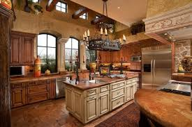 Rustic Kitchen Cabinets Rustic Kitchen Island With Wood Countertops Plus Sink Illuminated