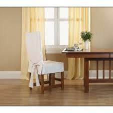 clever sure fit cotton duck short dining room chair slipcover slip covers chairs lovely shorty