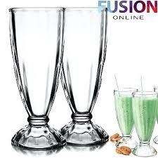 milkshake glass milkshake glasses dessert sundae ice cream soda glass tall style ml milkshake glasses kmart