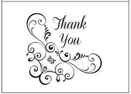Thank You Black And White Printable Printable Flourish Thank You Cards Allfreepapercrafts Com